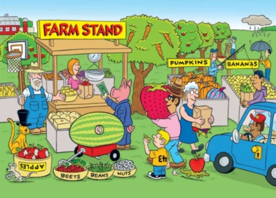 Highlights: Farm Stand - 60pc Silly Jigsaw Puzzle by Ravensburger