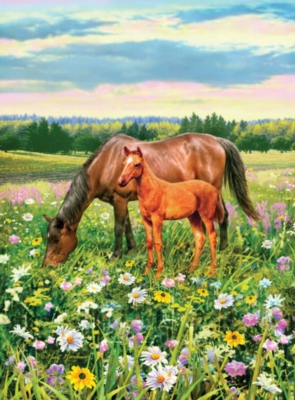 Horse's Pasture - 100pc Jigsaw Puzzle by Ravensburger