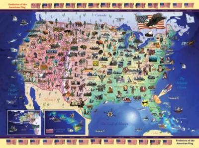 Ravensburger Jigsaw Puzzles - USA Map