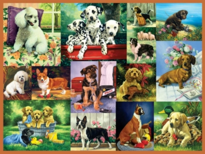 Ravensburger Large Format Jigsaw Puzzles - Puppy Collage