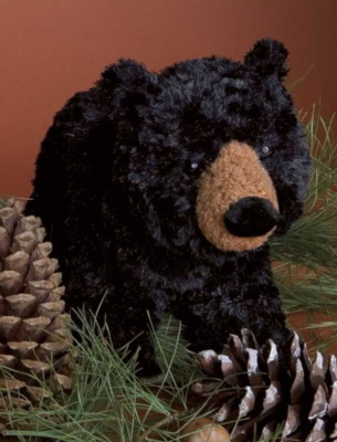 "Charcoal Small Black Bear - 8"" Bear By Douglas Cuddle Toys"