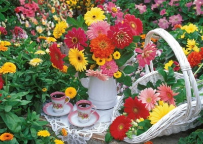 Flowery Tea Party - 1000pc Jigsaw Puzzle by Ravensburger