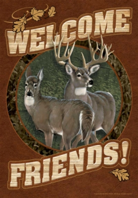 Deer Welcome - Standard Flag by Toland