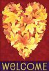 Leaf Heart - Garden Flag by Toland