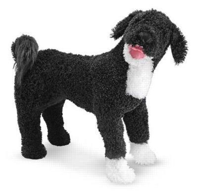 "Portuguese Water Dog - 25"" Tall, Standing Plush Dog by Melissa & Doug"