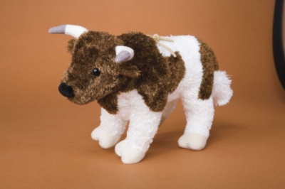 Chaos Brown and White Rodeo - 9'' Bull By Douglas Cuddle Toys