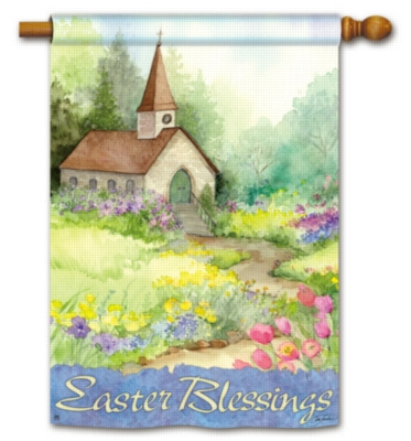 Easter Blessings - Standard Flag by Magnet Works