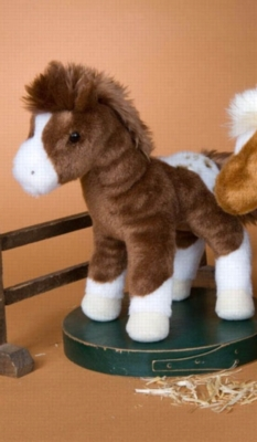 Warrior Blanket Appaloosa Horse - 8'' Horse by Douglas Cuddle Toy