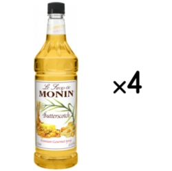 Monin Classic Butterscotch Syrup - 1L Plastic Bottle Case