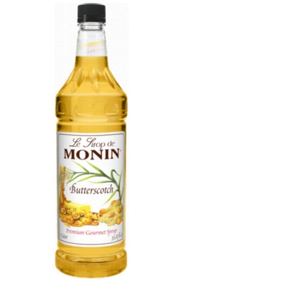 Monin Classic Butterscotch Syrup - 1L Plastic Bottle