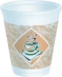 Dart - Espresso Foam Cup, 8oz, 8X8G, 1000/cs