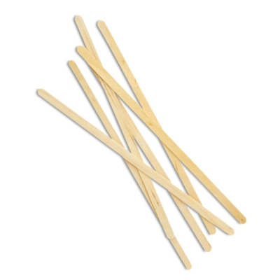 "Birchwood Coffee Stir Sticks - 7"" x 1/4"" Coffee Stirrer (w/ round ends), Box of 1000"
