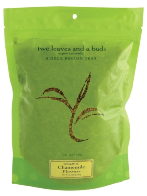 Two Leaves Tea: Organic Chamomile - 1/4 lb. Loose Tea in a Resealable Sleeve