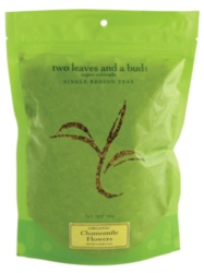 Two Leaves Tea: Organic Chamomile - 1/4 lb. Loose Tea in a Resealable Sleeve Case