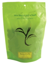 Two Leaves Tea: Organic Tamayokucha - 1/2 lb. Loose Tea in a Resealable Sleeve Case