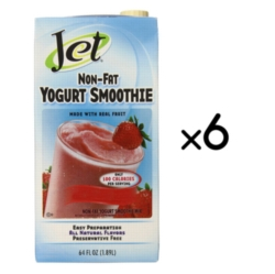 Jet Non-Fat Yogurt Smoothies: 64oz Carton Case