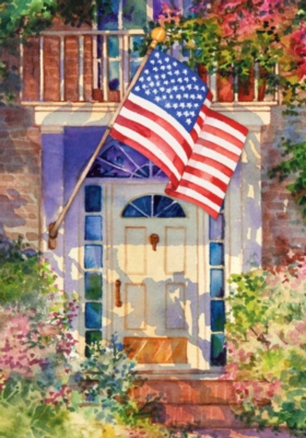 Patriotic Home - Standard Flag by Toland