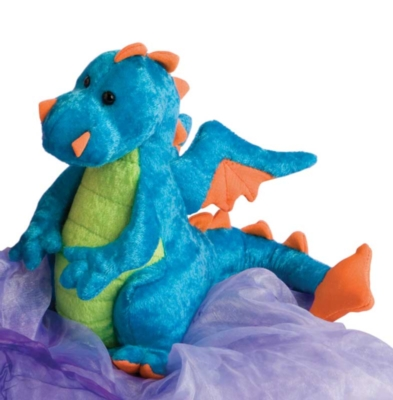 Flashing Sword Green and Gold - 11'' Dragon By Douglas Cuddle Toys