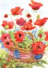 Patriotic Poppies - Standard Flag by Toland