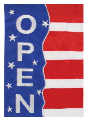 Patriotic Open - Standard Applique Flag by Toland
