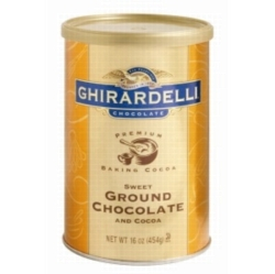 Ghirardelli Sweet Ground Chocolate Powder - 1 lb. Can Case