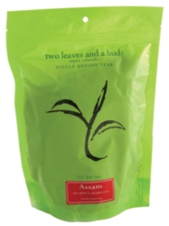 Two Leaves Tea: Organic Assam - 1/2 lb. Loose Tea in a Resealable Sleeve Case