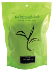 Two Leaves Tea: Organic Darjeeling - 1/2 lb. Loose Tea in a Resealable Sleeve Case