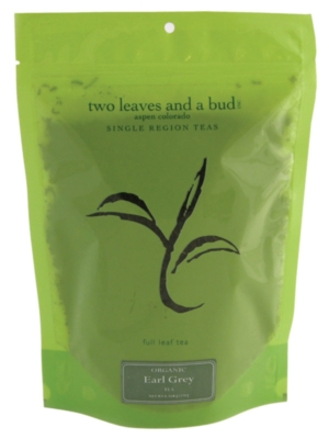 Two Leaves Tea: Organic Earl Grey - 1/2 lb. Loose Tea in a Resealable Sleeve