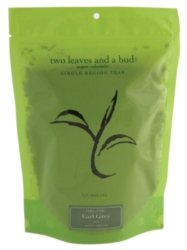 Two Leaves Tea: Organic Earl Grey - 1/2 lb. Loose Tea in a Resealable Sleeve Case
