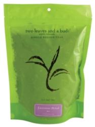Two Leaves Tea: Jasmine Petal - 1/2 lb. Loose Tea in a Resealable Sleeve Case