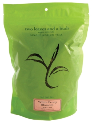 Two Leaves Tea: Organic White Peony - 1/4 lb. Loose Tea in a Resealable Sleeve