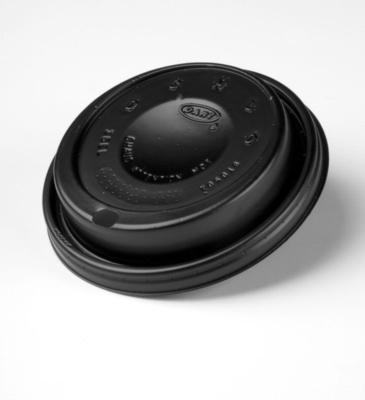 Dart - Travel Lid (Black) for 12, 16 & 20oz Cups, 16ELBLK, 1000/cs