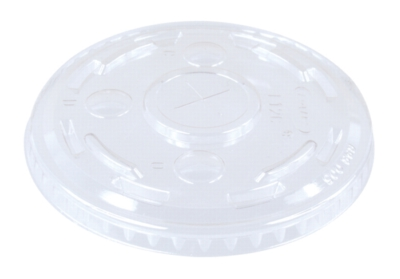 Dart - Flat Lid w/ Hole for 12oz, Clear, L12C, 1000/cs