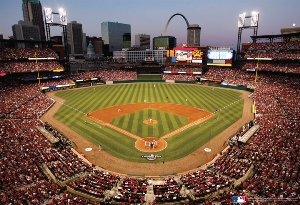 MLB Stadiums: St. Louis Cardinals - 500pc Jigsaw Puzzle by Great American Puzzle Factory