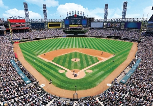 MLB Stadiums: Chicago White Sox - 500pc Jigsaw Puzzle by Great American Puzzle Factory