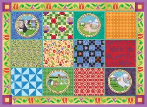 Farm Animals Quilt - 1000pc Jigsaw Puzzle by Great American Puzzle Factory