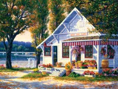 Deer Cove Market - 300pc Large Format Jigsaw Puzzle by Masterpieces