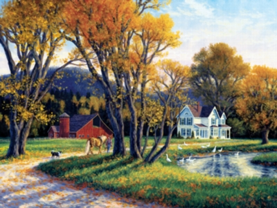 Quiet Autumn Days - 300pc Large Format Jigsaw Puzzle by Masterpieces