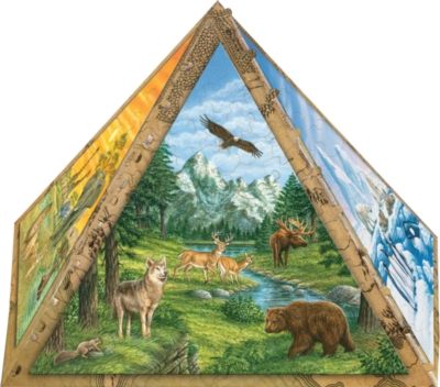 Animals of the World - 300pc 3D Pyramid Jigsaw Puzzle by Masterpieces
