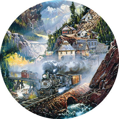 Silver Belle Run - 700pc Shaped Jigsaw Puzzle by Masterpieces