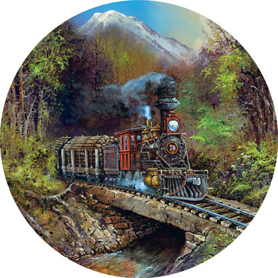 Logging Run - 700pc Shaped Jigsaw Puzzle by Masterpieces