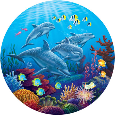 Dolphin Dance - 700pc Shaped Jigsaw Puzzle by Masterpieces