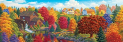Union River Mill - 1000pc Panoramic Jigsaw Puzzle by Masterpieces