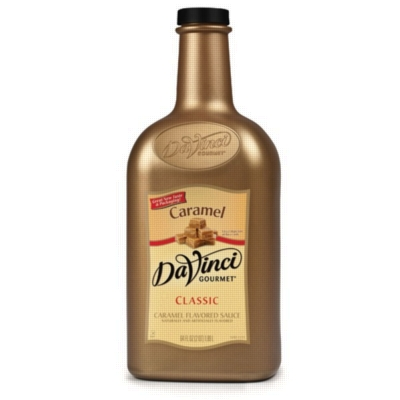Davinci Gourmet Sauce: Caramel - 64oz Plastic Bottle