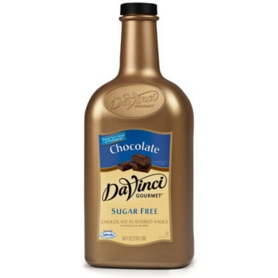Davinci Gourmet Sauce: Chocolate (Sugar Free) - 64oz Plastic Bottle