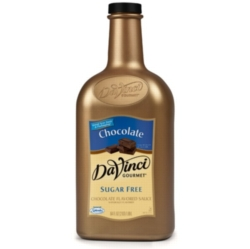 Davinci Gourmet Sauce: Chocolate (Sugar Free) - 64oz Plastic Bottle Case
