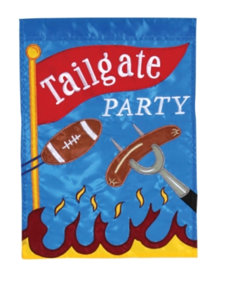 Tailgate Party - Standard Applique Flag by Toland