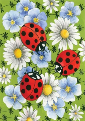 Flowers & Ladybugs - Standard Flag by Toland