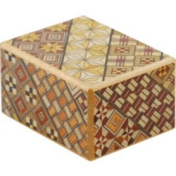 Wooden Puzzle Box - Japanese - 2.5 Sun, 10 Step: Koyosegi
