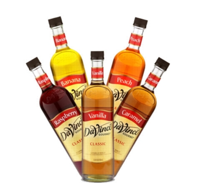 Davinci Classic Flavored Syrups - 750 ml. Glass Bottle